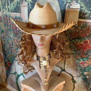 Classic Cattleman Straw Cowboy Hat